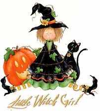 Little Witch Girl Halloween T-Shirt PLUS SIZE -or- SUPERSIZE T421F Rhinestone