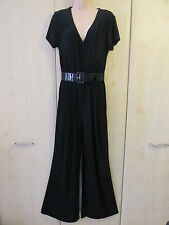 Ronni Nicole O So Slim Black Belted Jumpsuit Sizes 10 12 14 16 18 20 NEW / BNWT