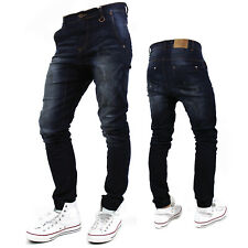 KAYDEN.K  Elastic Cuff Stretch HAREM Jogger denim JEANs Pants trousers tapered