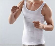 Body Shaper For Men Slimming Shirt Vest Weight Loss Fat Burner not Pills - WHITE