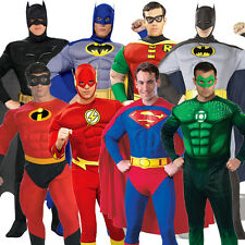Adult Licensed Padded Muscle Chest Superheroes Fancy Dress Costume Outfit New