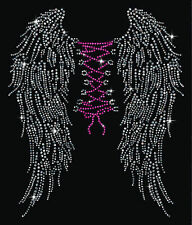 Back Corset Wings Sparkly Rhinestud Rhinestone T-Shirt PLUS SIZE SUPERSIZE T339F