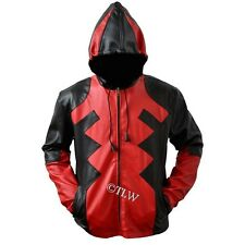 DeadPool Corp Game Leather Jacket (Red & Black) , All Sizes Available Fast Ship