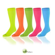 Krazisox Neon Elite Socks - 5 Colors (Medium) - Knee-High, Moisture Control, NIP
