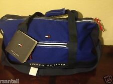 """New Tommy Hilfiger Canvas Duffle Luggage Bag 22"""" Duffell Mens Womens"""