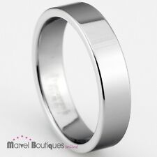 5mm / 8mm Tungsten Carbide Polished Plain Band / Wedding Anniversary Ring (010)