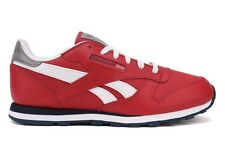 Reebok Classic Leather V53807 New Youth Kids GS Red White Casual Walking Shoes