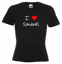 I Love Hearts Sandwell Ladies Fitted T-Shirt