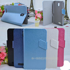 Stand PU Leather Cover Skin Case For Alcatel One Touch Scribe HD OT 8008D 8008X