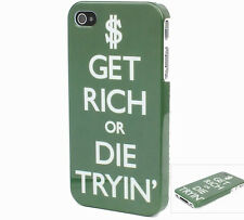 Get Rich or Die Tryin  Funny Vintage Hard Back Cover Case for iPhone 5 4 4S 108