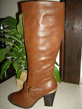 NEW LOOK TAN LONG KNEE HIGH BUCKLE BOOTS NEW SIZES 7 8 9  NEXT DAY POSTING