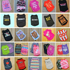 Summer Various Pet Puppy Small Dog Cat Pet Clothes Vest T Shirt Apparel Clothes