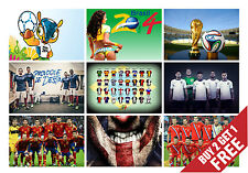 2014 FIFA WORLD CUP Poster Options Legend Football Players Gift 4 Fans Wall Deco