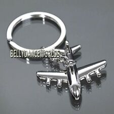 POLISHED AIRPLANE AIRCRAFT MODEL METAL KEYCHAIN KEY CHAIN FOB RING HOLDER GIFT