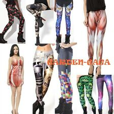 Funky Dancer Gift Tetris Muscle Galaxy Printed Pants Leggings Jeans S-M,L-XL TOP