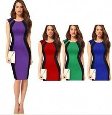 Womens Celeb Style Ladies Bodycon Optical Illusion Contrast Party Cocktail dress