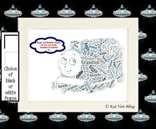 Personalised Framed Thomas The Tank Engine Word Art-Unique Gift-Choice Of Words