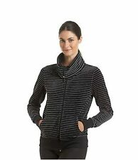 CALVIN KLEIN WOMENS PERFORMANCE ACTIVE VELOUR STRIPE JACKET NWT $65+TAX