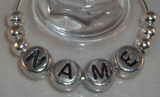 Wine Glass Charms Silver Top Table Favours Wedding Party Personalised New