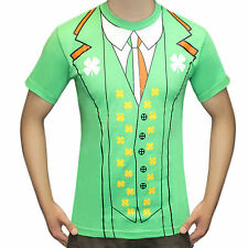 Adult Men Printed Irish St Patrick's Day T Shirts Stag Do Fancy Dress Costume