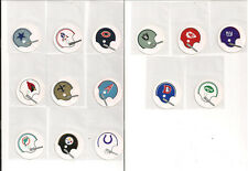 NFL 1970's Vinyl 1 BAR TEAM STICKERS VERY TOUGH NEVER USED ONLY ONE OF EACH!!!