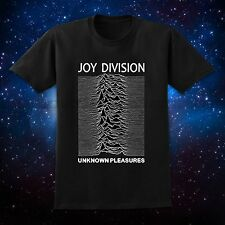 S-2XL Black Men's T-Shirt JOY DIVISION UNKNOWN PLEASURES Cover Punk IAN CURTIS