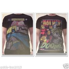 MARVEL SUPER HERO LEGENDS TEESHIRT TOP IRON MAN vs DOOM BATMAN ALL SIZES