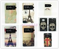 Slim View Vintage Design Leather Wallet Stand Case For Samsung Galaxy S2 i9100