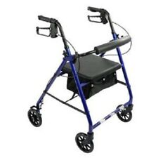 Cardinal Health Rollator Rolling Walker with Medical Curved Back Soft Seat