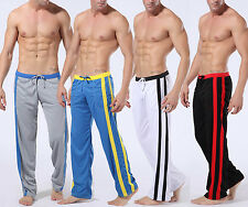 New Men's Low Rise Sport Sweat Pants Gym Athletic Slim Fit Lounge Trousers