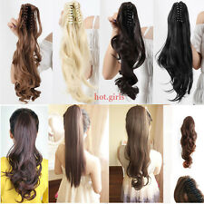 Clip In Ponytail Pony Tail Hair Extensions Piece Wavy Style Wrap/calw On Hair E4