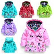 BABY GIRL HOOD RAIN COAT JACKET WINDBREAKER SUMMER SPRING MAC Raincoat 12M-6Y