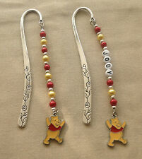 WINNIE the POOH BOOKMARK with CHARM  - PERSONALISED or PLAIN