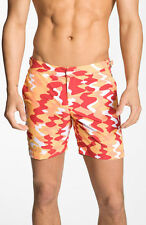 Orlebar Brown + Nick Wooster BULLDOG CAMO Red Designer Swim Shorts Beachwear