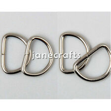 "100x 3/8"" 1/2"" Metal D Ring Dee Ring Sliver Webbing Buckles Strapping Belt Craft"