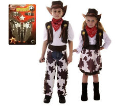 Boys Girls Kids Cowboy Outfit Fancy Dress Costume Children Party Rodeo Wild West
