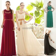 Fashion Goddess Hollow Sleeveless Beach Chiffon Party Cocktail Long Maxi Dress