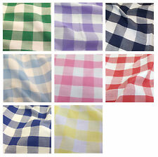"""Corded Gingham Fabric 1"""" (25mm) Check Dress Material  -44"""" (112cm) wide"""