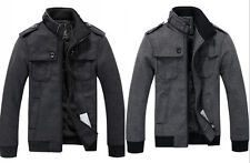 Fashion new Mens coat jacket wool peacoat Slim Winter Trench Overcoat Clothes