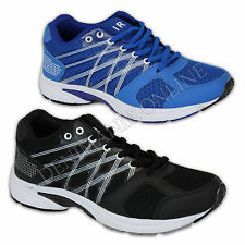 mens Air Tech trainers lace up sports gym mesh summer jogging walking shoes