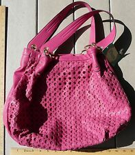 Faux leather snap closure shoulder bag purse fuscia pink New w/ tags