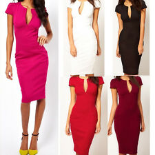 Sexy Women Deep V-neck Bodycon Pencil Slim Business Dress Party Cocktail Dress