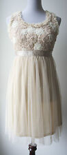 ModCloth A'REVE by Ryu romantic vintage tulle dress w/ handcrafted floral bodice