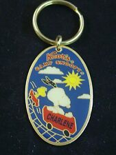 Vtg Knotts Camp Snoopy Rollercoaster Personalized Keychain Many Names R - W