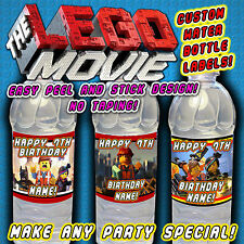 The Lego Movie Water Bottle Labels Supplies Favors Decorations Drink Birthday