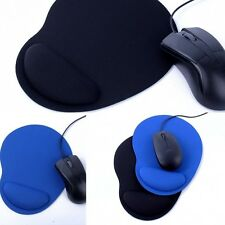 Cool Wrist Comfy Mouse Pad Mat Mice Pad For Optical / Trackball Mouse Black/Blue