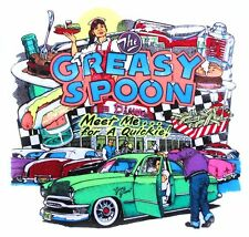 NOSTALGA LOST IN 1950s MEET ME FOR A QUICKIE AT THE GREASY SPOON CAR T-SHIRT 25