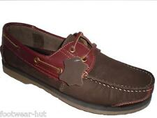 MENS BROWN LEATHER BOAT DECK SHIP MOCCASIN QUALITY SHOES SIZE 7 8 9 10 11 12 NEW