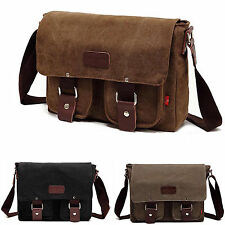 Retro Mens Bookbag Womens Backpack Messenger Bag Canvas New Style Shoulder Bag