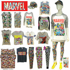 Ladies womens Marvel comic cap sweater jumper top tight legging lounge underwear